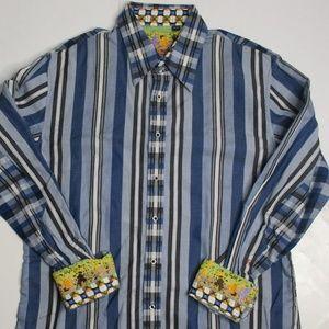 Robert Graham shirt euro fit slim fit L/XL flipcuf